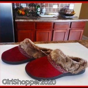 Women's ISOTONER Slipper w Faux Fur